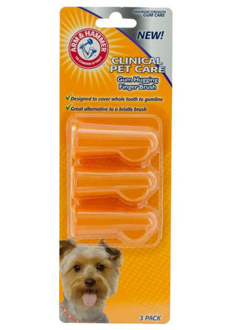Arm & Hammer Finger Toothbrushes for Dogs (Available in a pack of 24)