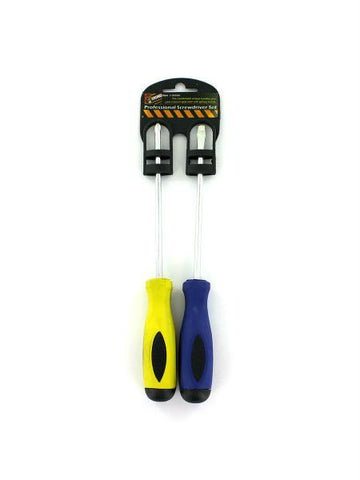 Professional Slotted & Phillips Screwdriver Set (Available in a pack of 24)