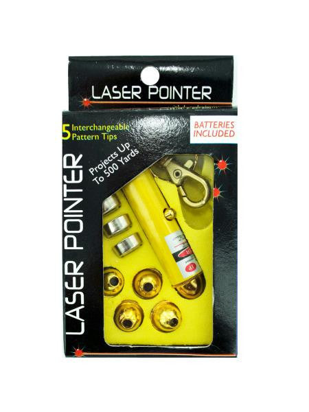 Laser Pointer With Interchangeable Heads (Available in a pack of 25)