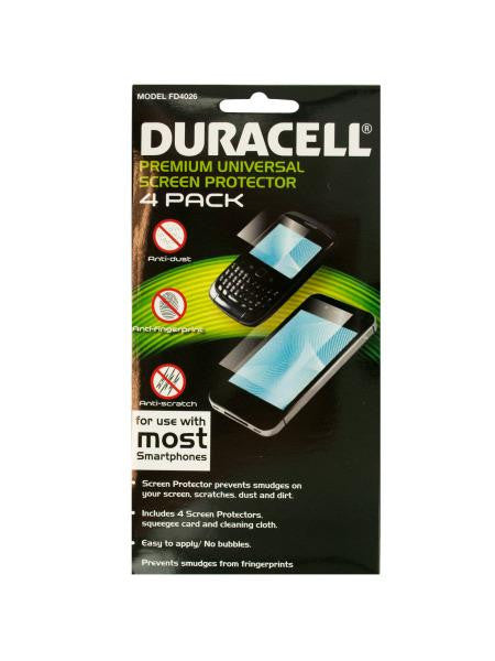Duracell Universal Smartphone Screen Protector Set (Available in a pack of 24)