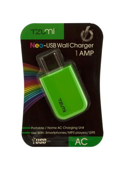 Green Neo-USB Wall Charger (Available in a pack of 12)