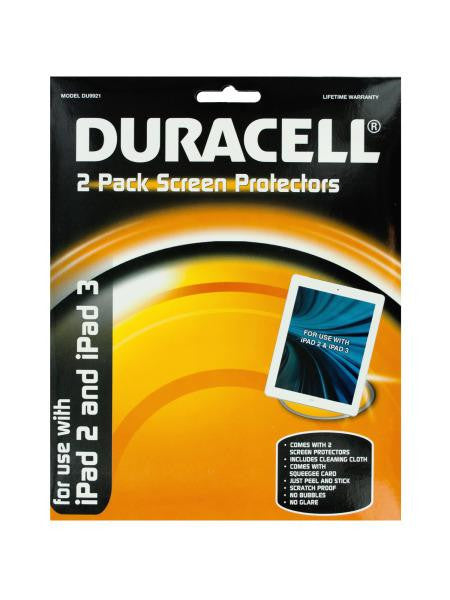 Duracell iPad Screen Protectors Set (Available in a pack of 24)
