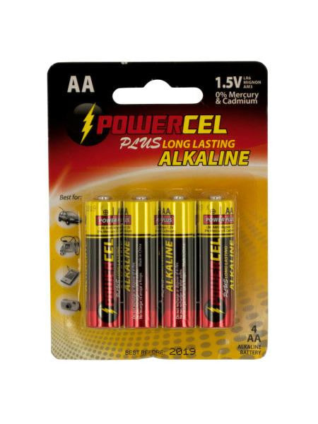 Powercel Plus Alkaline AA Batteries (Available in a pack of 16)