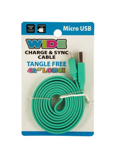 Wide Micro USB Charge & Sync Cable (Available in a pack of 12)