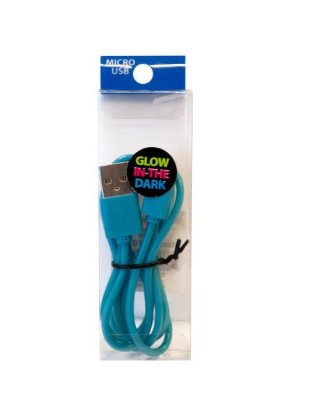 Glow in the Dark Micro USB Charge Cable (Available in a pack of 15)