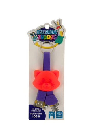 Cell Phone Buddies Micro USB Cable Key Chain (Available in a pack of 15)