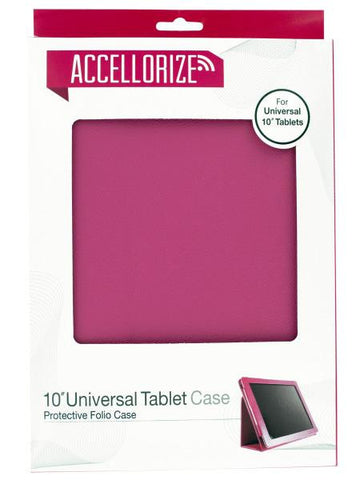 Accellorize Pink Universal Tablet Case (Available in a pack of 10)