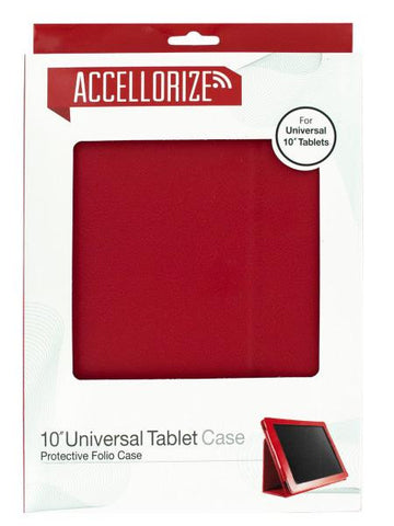 Accellorize Large Red Universal Tablet Case (Available in a pack of 8)
