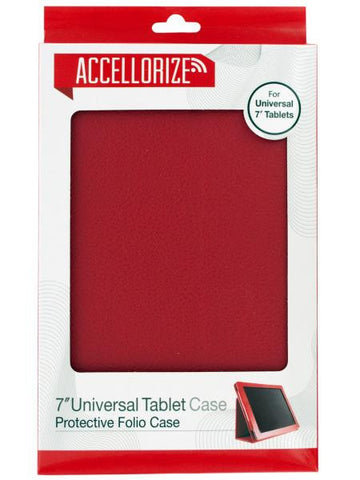 Accellorize Red Universal Tablet Case (Available in a pack of 10)