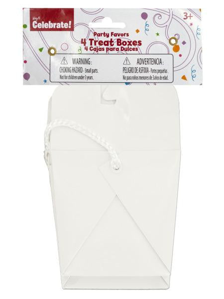 White Party Favor Treat Boxes (Available in a pack of 24)