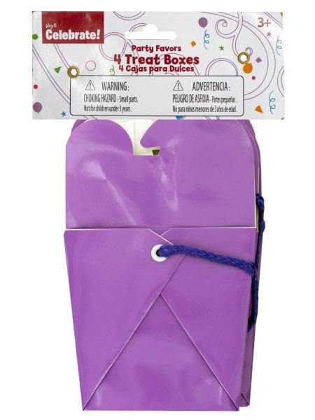Purple Party Favor Treat Boxes (Available in a pack of 24)