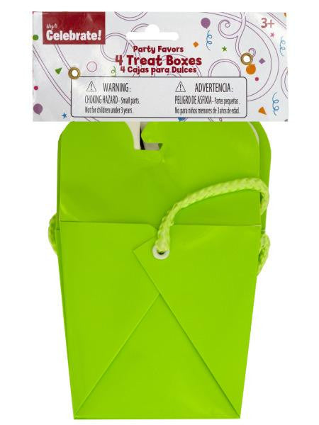 Lime Green Party Favor Treat Boxes (Available in a pack of 24)