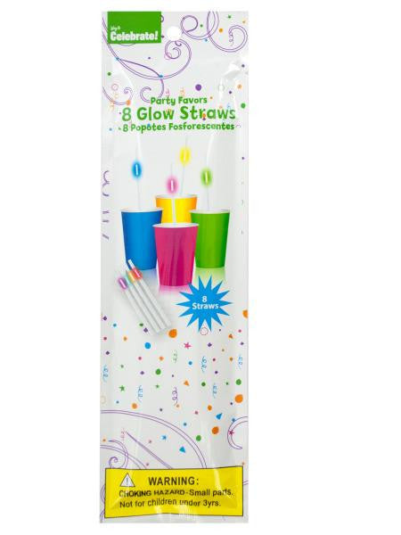 Glow Straws Party Favors (Available in a pack of 24)