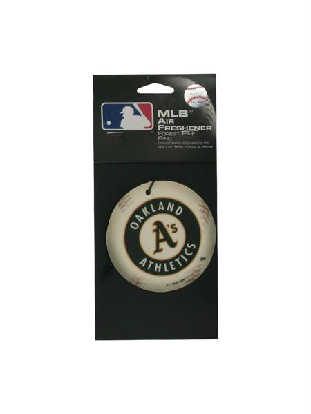 Oakland Athletics Baseball Pine Freshener (Available in a pack of 24)