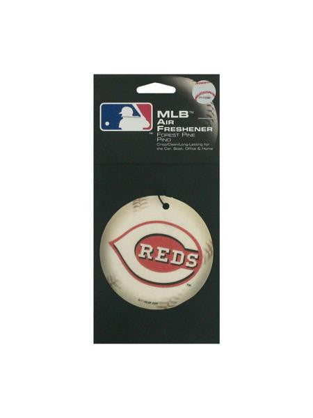 Cincinnati Red Baseball Pine Freshener (Available in a pack of 24)