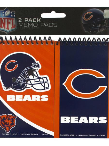 NFL Licensed Chicago Bears Memo Pads Set (Available in a pack of 24)