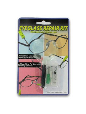 Eyeglass Repair Kit with Magnifying Glass (Available in a pack of 24)