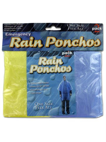 Emergency Rain Ponchos (Available in a pack of 24)