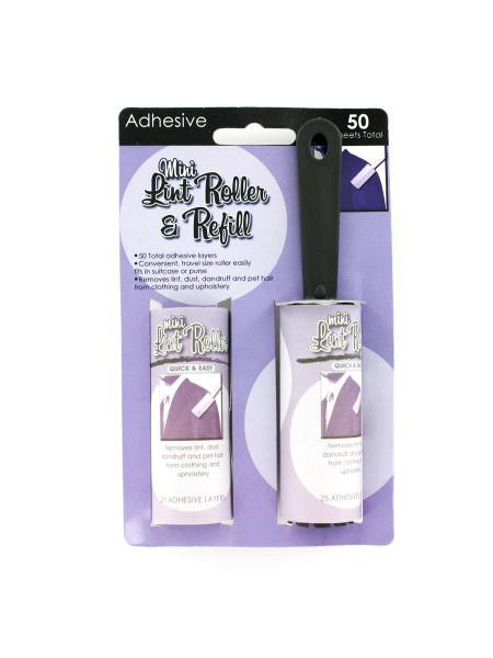 Mini Lint Roller & Refill (Available in a pack of 24)