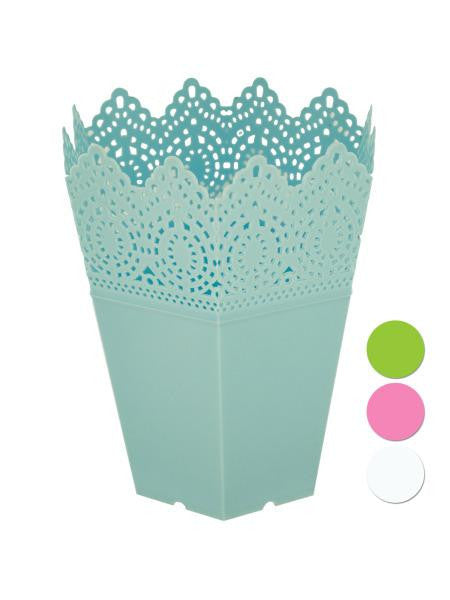 Decorative Hexagonal Multi-Use Flower Pot (Available in a pack of 24)