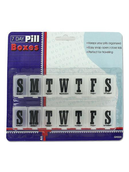 7 Day Pill Boxes Set (Available in a pack of 24)