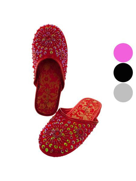 Girls Sparkling Slip-On Shoes (Available in a pack of 12)