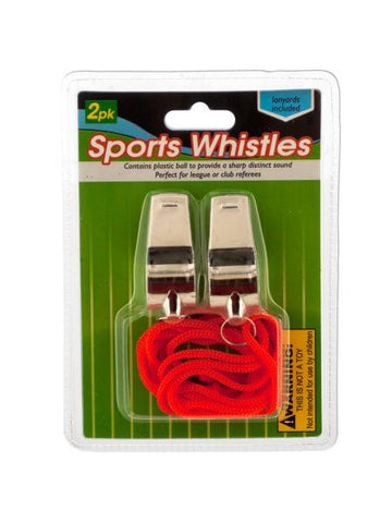 Sports Whistles with Lanyards (Available in a pack of 12)