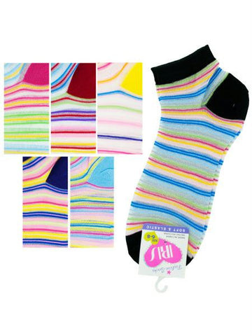 Low cut stripe 6-8 socks (Available in a pack of 36)