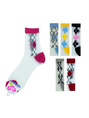 High Cut Argyle Socks (Available in a pack of 36)