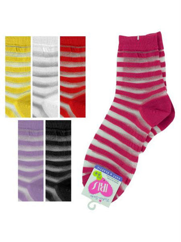 High Cut Striped Socks (Available in a pack of 36)