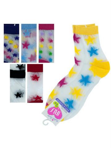 High Cut Stars Socks Size 6-8 (Available in a pack of 36)
