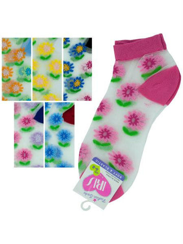 Low Cut Flowers Socks (Available in a pack of 36)
