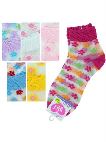 Mid Cut Flowers Socks (Available in a pack of 36)