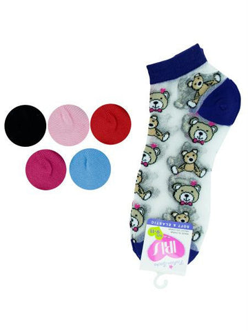 Low Cut Bears Socks (Available in a pack of 36)