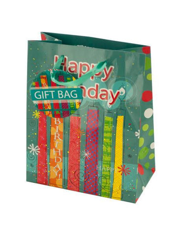 Happy Birthday Festive Candles Gift Bag (Available in a pack of 24)