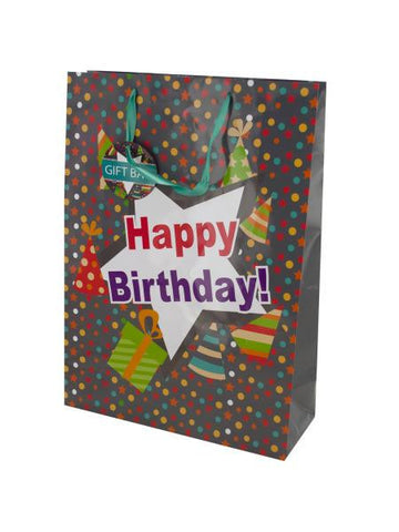 Happy Birthday Party Hats Gift Bag (Available in a pack of 24)
