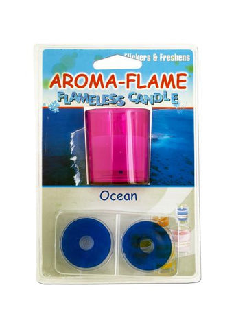 Ocean Aroma-Flame Flameless Candle (Available in a pack of 24)