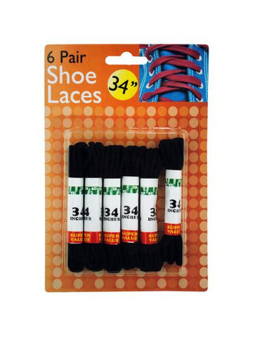 Black Shoe Laces (Available in a pack of 24)