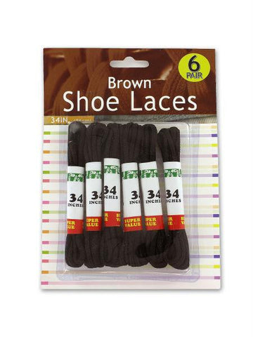 Brown Shoe Laces (Available in a pack of 12)