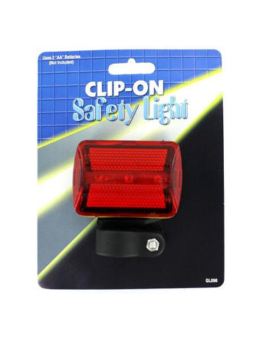 Clip-On Bicycle Safety Light (Available in a pack of 12)