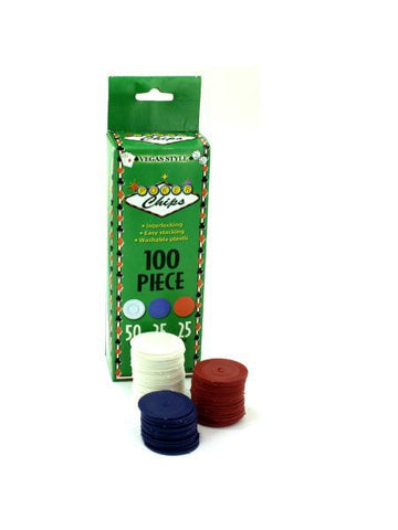 Plastic Poker Chips (Available in a pack of 24)