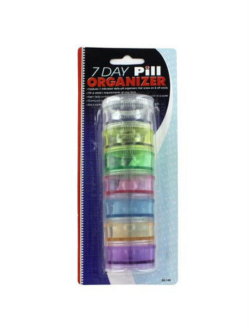 7 Day Pill Organizer (Available in a pack of 24)