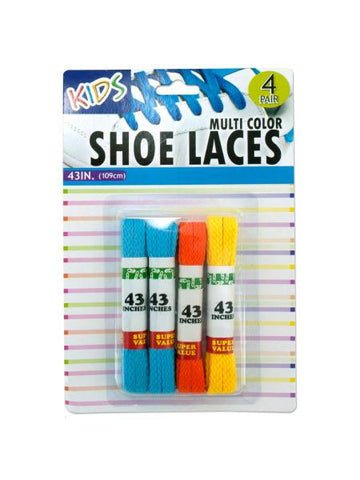 Kids Colored Shoelaces (Available in a pack of 12)
