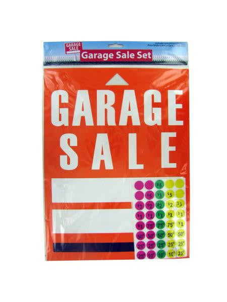 Garage Sale Sign and Sticker Set (Available in a pack of 24)
