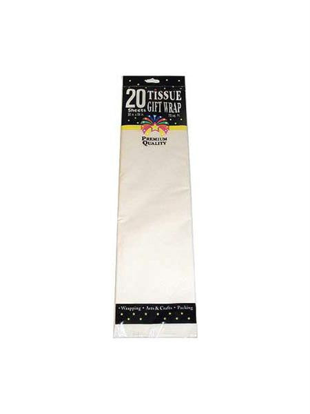 White Gift Wrap Tissue Paper (Available in a pack of 24)