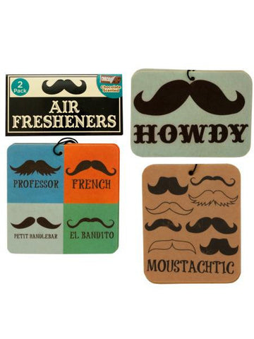 Chocolate Scented Mustache Air Freshener (Available in a pack of 24)