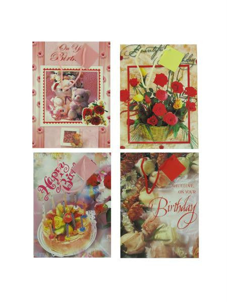 Birthday gift bags, assorted designs (Available in a pack of 24)
