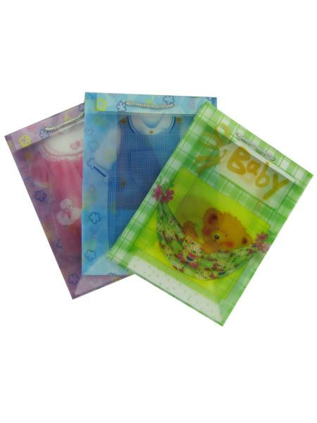 Transparent baby gift bags, assorted medium size (Available in a pack of 24)