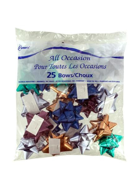 All Occasion Metallic Gift Bows (Available in a pack of 24)