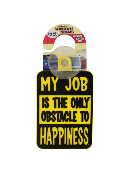 Novelty Suction Cup Window Sign (Available in a pack of 24)